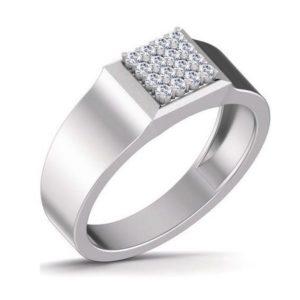 Diamond Ring In 18Kt Gold (6.550 Gram) With Diamonds (0.23 Ct) For Men
