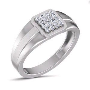 Diamond Ring In 18Kt Gold (6.250 Gram) With Diamonds (0.23 Ct) For Men