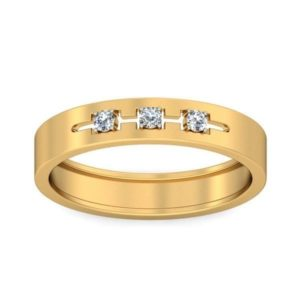 Diamond Ring In 18Kt Gold (5.590 Gram) With Diamonds (0.04 Ct) For Men