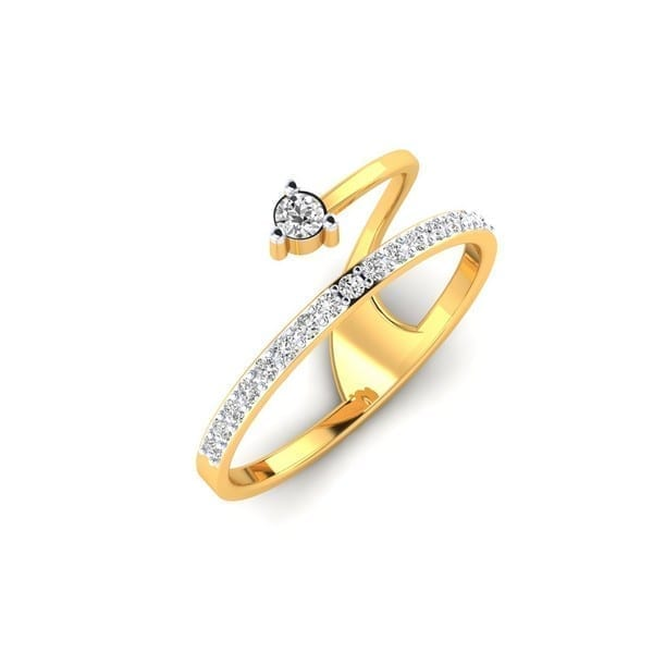 Diamond Ring in 18Kt Gold (1.170 gram) with Diamonds (0.15 Ct) for Women