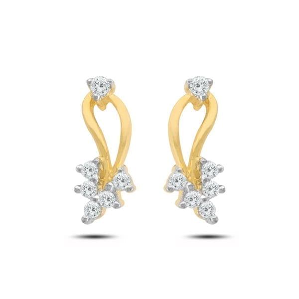 Diamond Earring in 18Kt Gold (1.710 gram) with Diamonds (0.16 Ct)