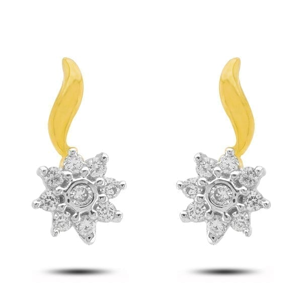 Diamond Earring in 18Kt Gold (1.400 gram) with Diamonds (0.14 Ct)