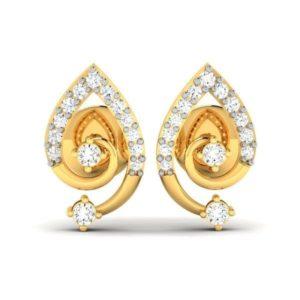 Diamond Earring in 18Kt Gold (2.170 gram) with Diamonds (0.30 Ct)