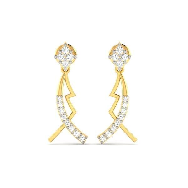 Diamond Earring in 18Kt Gold (2.120 gram) with Diamonds (0.31 Ct)