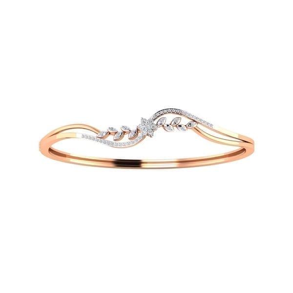 Diamond Bracelet In 18Kt Gold(7.020 gram)with Diamonds(0.41 Ct)