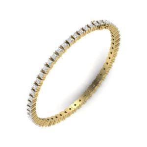 Diamond Bangles In 18Kt Gold(16.080 Gram)With Diamonds(4.59 Ct)