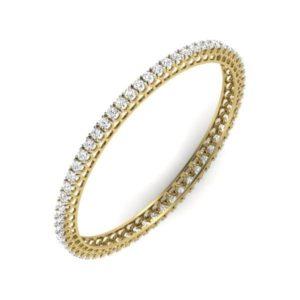 Diamond Bangles In 18Kt Gold(17.180 Gram)With Diamonds(4.10 Ct)