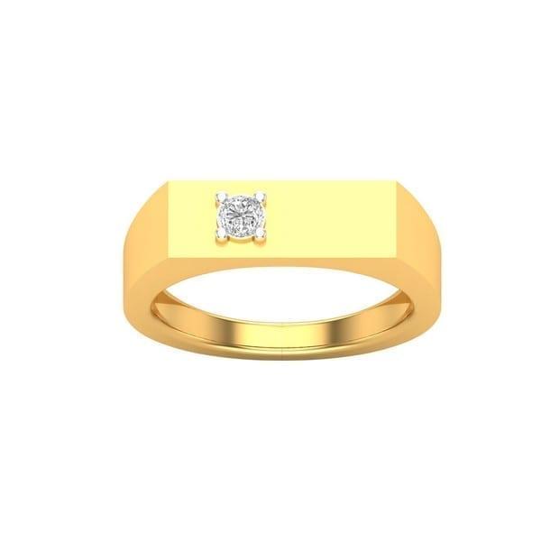 Diamond Ring In 18Kt Gold (4.990 Gram) With Diamonds (0.07 Ct) For Men