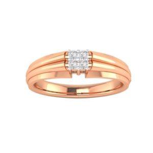 Diamond Ring In 18Kt Gold (2.780 Gram) With Diamonds (0.12 Ct) For Men