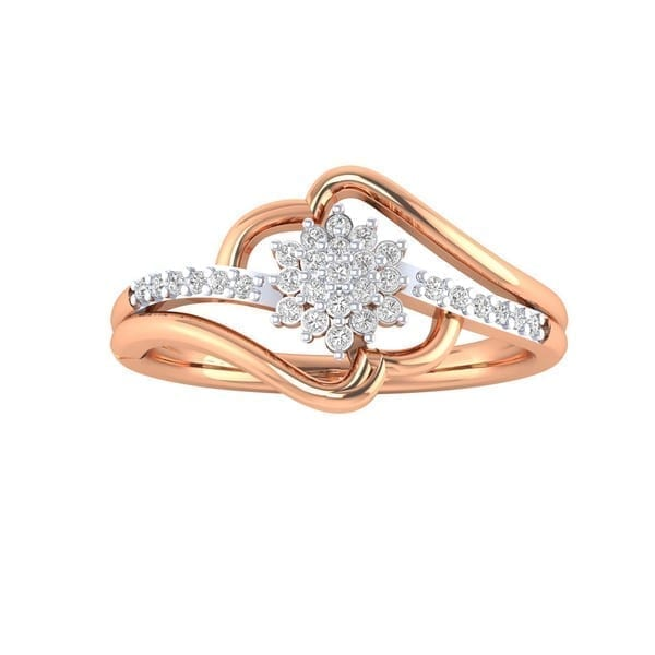 Diamond Ring in 18Kt Gold (1.950 gram) with Diamonds (0.24 Ct) for Women