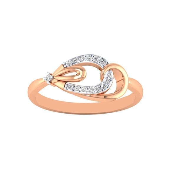 Diamond Ring in 18Kt Gold (1.480 gram) with Diamonds (0.12 Ct) for Women