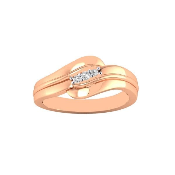 Diamond Ring in 18Kt Gold (2.480 gram) with Diamonds (0.10 Ct) for Women
