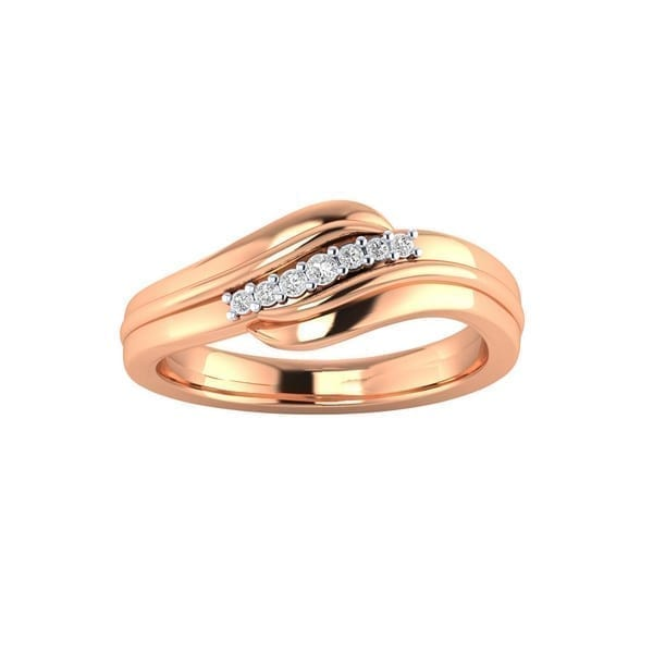 Diamond Ring in 18Kt Gold (2.470 gram) with Diamonds (0.14 Ct) for Women