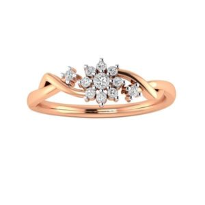 Diamond Ring in 18Kt Gold (2.220 gram) with Diamonds (0.13 Ct) for Women