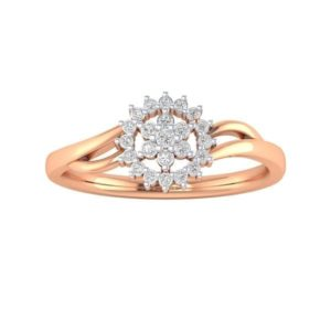 Diamond Ring in 18Kt Gold (2.160 gram) with Diamonds (0.20 Ct) for Women