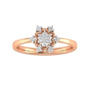 Diamond Ring in 18Kt Gold (2.270 gram) with Diamonds (0.15 Ct) for Women