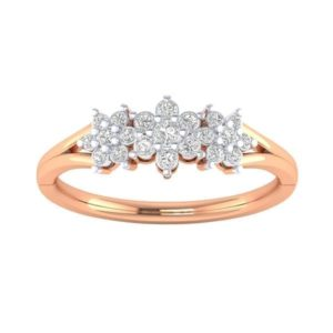 Diamond Ring in 18Kt Gold (2.260 gram) with Diamonds (0.20 Ct) for Women