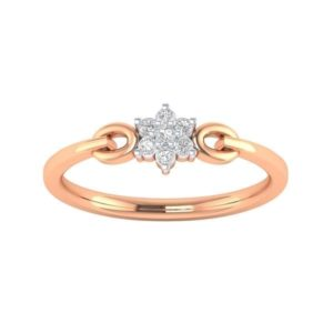 Diamond Ring in 18Kt Gold (1.480 gram) with Diamonds (0.10 Ct) for Women