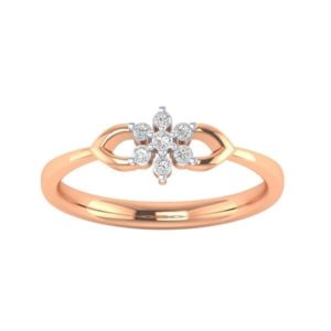 Diamond Ring in 18Kt Gold (1.730 gram) with Diamonds (0.10 Ct) for Women
