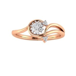 Diamond Ring in 18Kt Gold (1.970 gram) with Diamonds (0.17 Ct) for Women