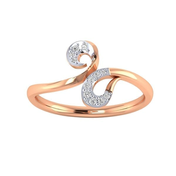 Diamond Ring in 18Kt Gold (1.980 gram) with Diamonds (0.10 Ct) for Women