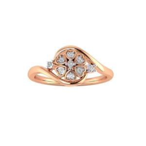 Diamond Ring in 18Kt Gold (1.970 gram) with Diamonds (0.15 Ct) for Women