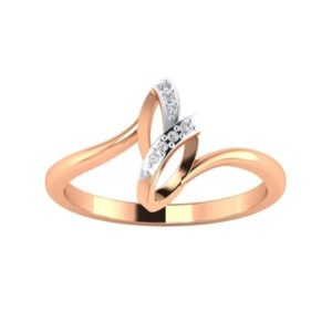 Diamond Ring in 18Kt Gold (1.790 gram) with Diamonds (0.07 Ct) for Women