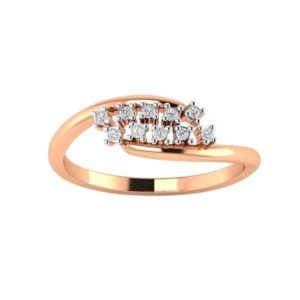 Diamond Ring in 18Kt Gold (1.870 gram) with Diamonds (0.15 Ct) for Women