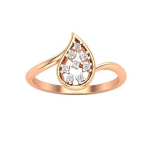 Diamond Ring in 18Kt Gold (1.980 gram) with Diamonds (0.11 Ct) for Women