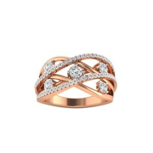 Diamond Ring in 18Kt Gold (3.620 gram) with Diamonds (0.40 Ct) for Women