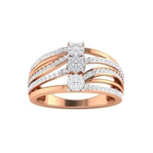 Diamond Ring in 18Kt Gold (4.910 gram) with Diamonds (0.46 Ct) for Women