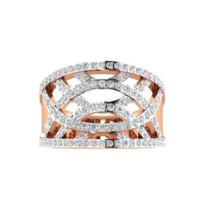 Diamond Ring in 18Kt Gold (4.900 gram) with Diamonds (0.50 Ct) for Women
