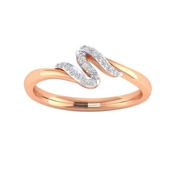 Diamond Ring in 18Kt Gold (1.680 gram) with Diamonds (0.12 Ct) for Women