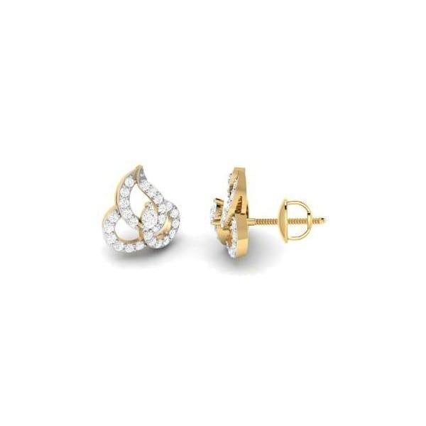Diamond Earring in 18Kt Gold (2.360 gram) with Diamonds (0.45 Ct)