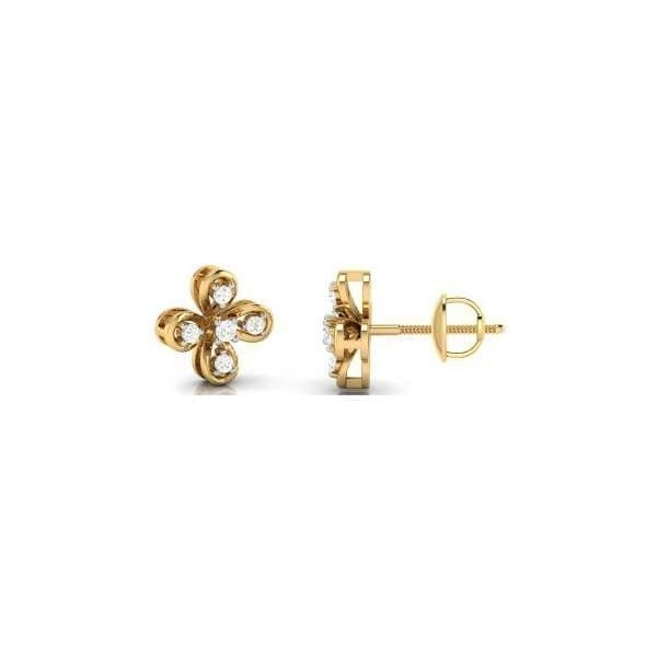 Diamond Earring in 18Kt Gold (2.070 gram) with Diamonds (0.23 Ct)