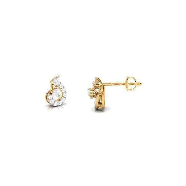 Diamond Earring in 18Kt Gold (1.470 gram) with Diamonds (0.24 Ct)