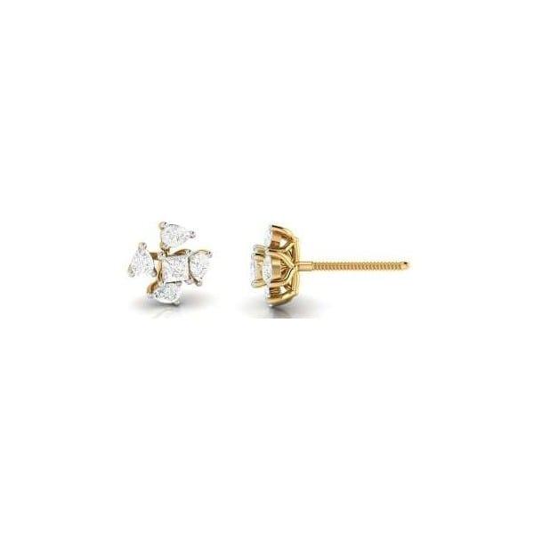 Diamond Earring in 18Kt Gold (1.320 gram) with Diamonds (0.22 Ct)