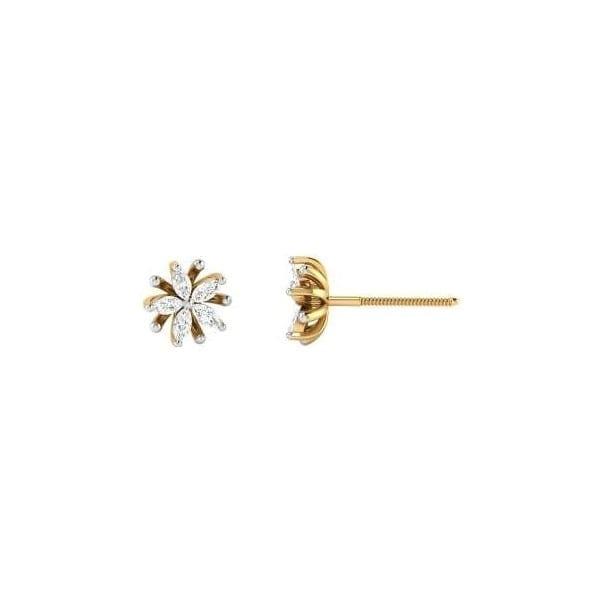 Diamond Earring in 18Kt Gold (1.630 gram) with Diamonds (0.35 Ct)