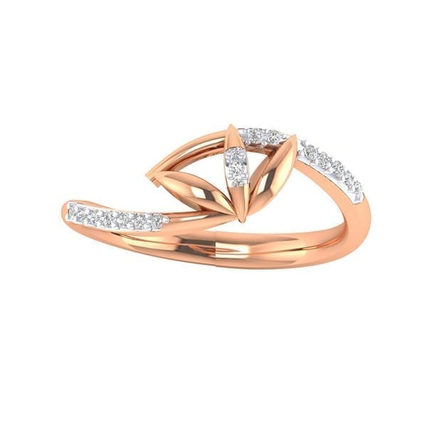 Diamond Ring in 18Kt Gold (1.980 gram) with Diamonds (0.12 Ct) for Women