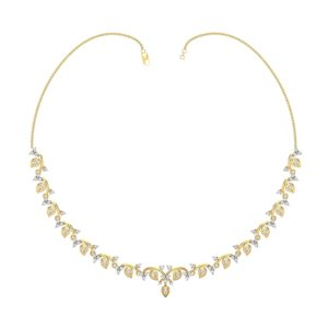 Diamond Necklace In 18Kt Gold(17.870 Gram)With Diamonds(2.13 Ct)