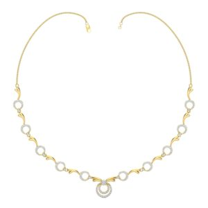 Diamond Necklace In 18Kt Gold(13.680 Gram)With Diamonds(1.61 Ct)