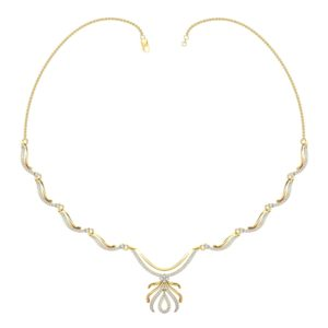 Diamond Necklace In 18Kt Gold(11.220 Gram)With Diamonds(1.41 Ct)