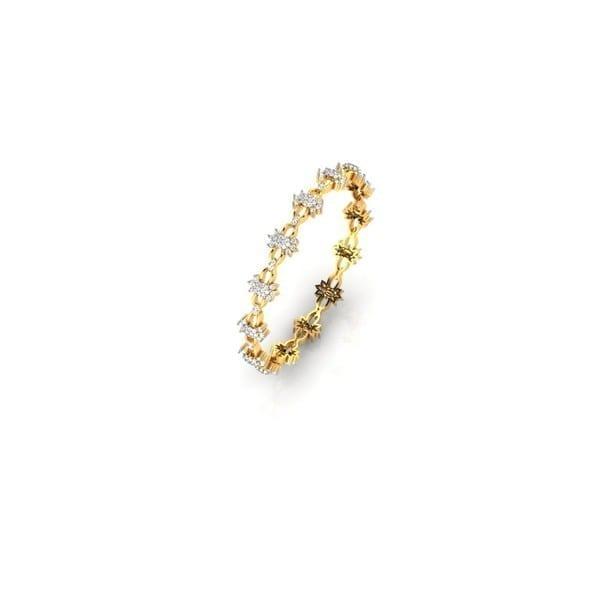 Diamond Bangles In 18Kt Gold(19.240 Gram)With Diamonds(3.82 Ct)