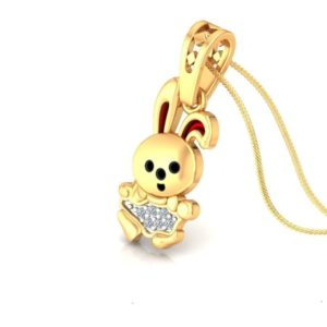 Diamond Pendant In 18Kt Gold(1.350 Gram)With Diamonds(0.02 Ct) for kids