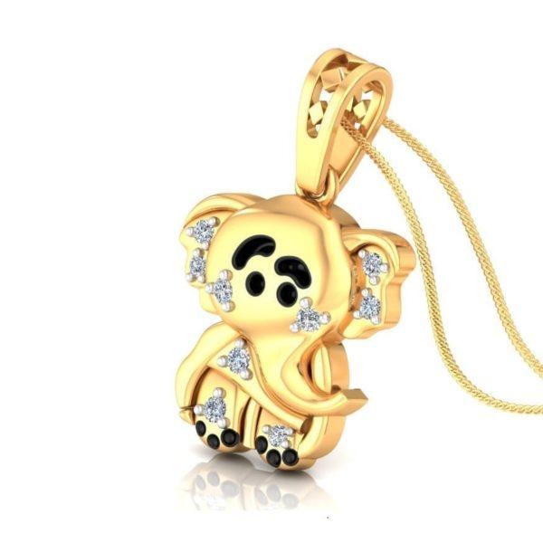 Diamond Pendant In 18Kt Gold(1.790 Gram)With Diamonds(0.07 Ct) for kids