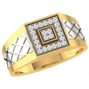 Diamond Ring In 18Kt Gold (8.440 Gram) With Diamonds (0.30 Ct) For Men