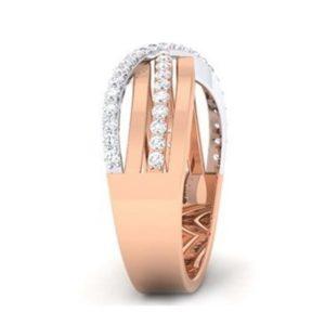 Diamond Ring In 2-tone 18Kt Gold (6.990 Gram) With Diamonds (0.64 Ct) For Men