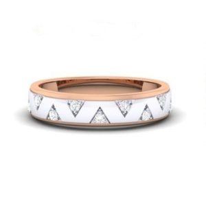 Diamond Ring In 18Kt Gold (5.000 Gram) With Diamonds (0.16 Ct) For Men
