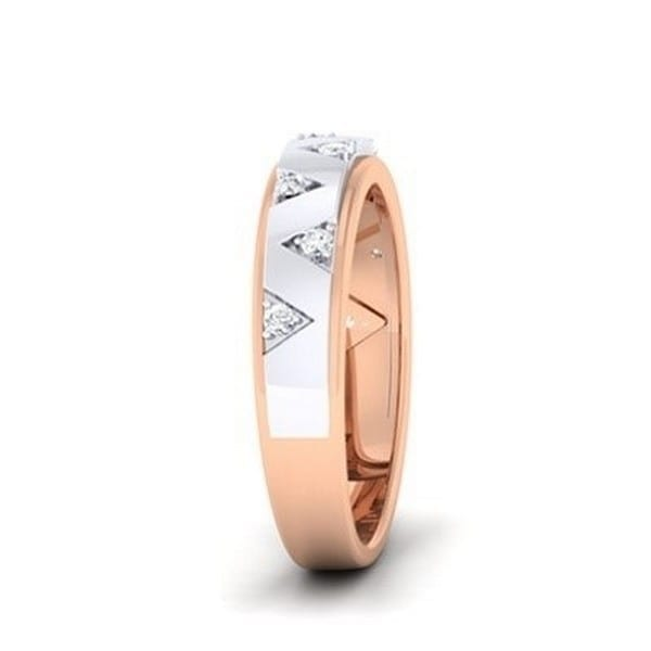 Diamond Ring In 2-Tone 18Kt Gold (3.570 Gram) With Diamonds (0.11 Ct) For Women