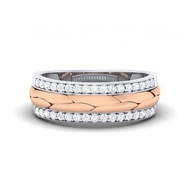 Diamond Ring in 18Kt Gold (4.130 gram) with Diamonds (0.34 Ct) for Women